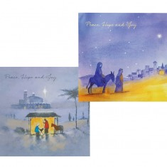 12 Christmas Cards Two Designs with Envelopes - SVP Charity