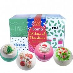 12 Days of Christmas Advent Calendar Gift Pack - Bath Bomb Cosmetics