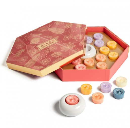 18 Tea Lights and Holder Yankee Candle Gift Set SS21