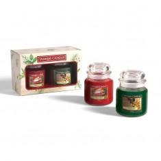 2 Medium Jars - Yankee Candle Christmas Gift Set 2020 Candlemania outofbox