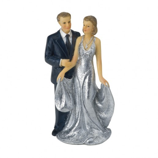 25th Wedding Anniversary Decoration - Cake Topper