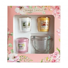 3 Votives And Candle Holder - Yankee Candle Gift Set SS20 front