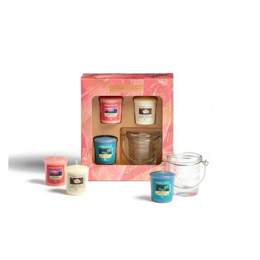 3 Votives and Holder Yankee Candle Gift Set SS21
