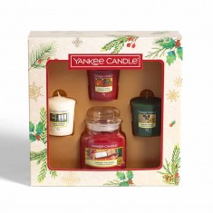 3 Votives And Small Jar - Yankee Candle Christmas Gift Set 2019 Candlemania