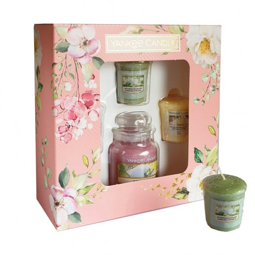 3 Votives And Small Jar - Yankee Candle Gift Set SS20 angle