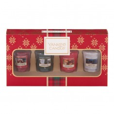 4 Votives - Yankee Candle Christmas Gift Set 2019 Candlemania