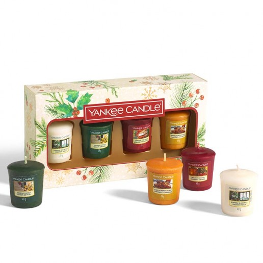 4 Votives - Yankee Candle Christmas Gift Set 2020 Candlemania outofbox