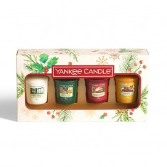 4 Votives - Yankee Candle Christmas Gift Set 2020 Candlemania