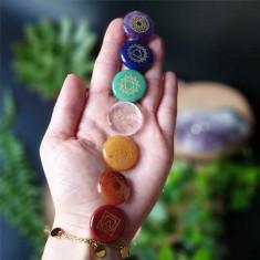 7 Chakras Palmstone Set aligned