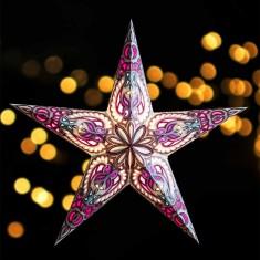 Aldebaran Light Blue - Paper Star Light lit
