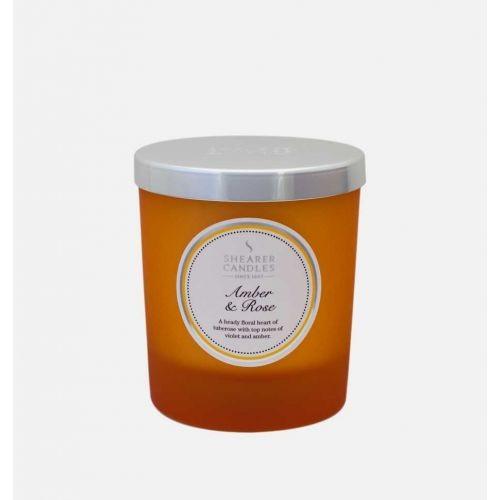Amber & Rose - Small Pillar Jar Candle