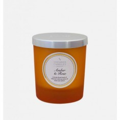 Amber & Rose - Small Pillar Jar Candle
