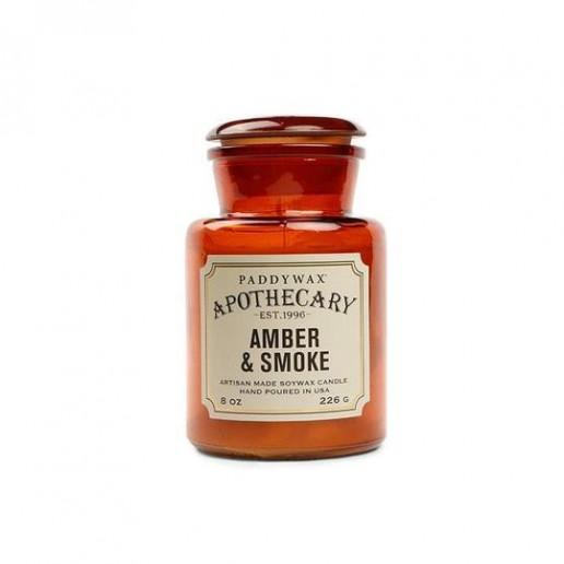 Amber & Smoke - Apothecary Jar - Paddywax Candle