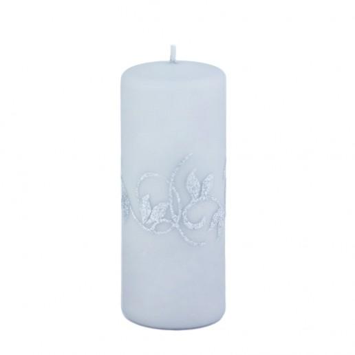 Amelia Grey Large Pillar Candle