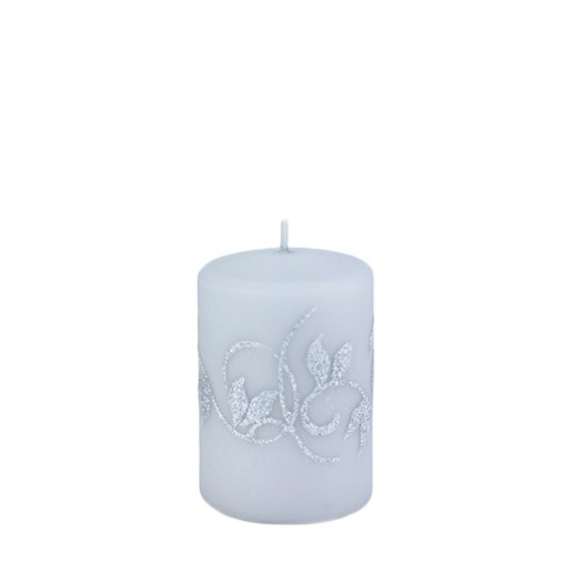 Amelia Grey Small Pillar Candle