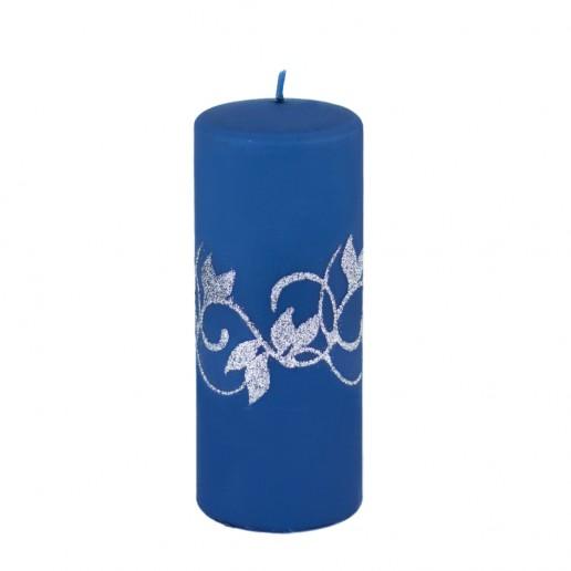 Amelia Navy Large Pillar Candle