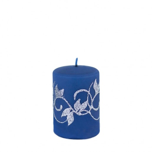 Amelia Navy Small Pillar Candle