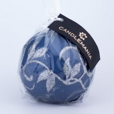 Amelia Navy Sphere Candle wrapped