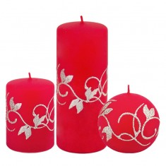 Amelia Red Candle Collection