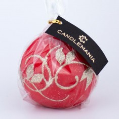 Amelia Red Sphere Candle wrapped