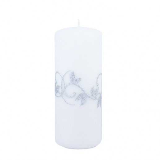 Amelia White Large Pillar Candle