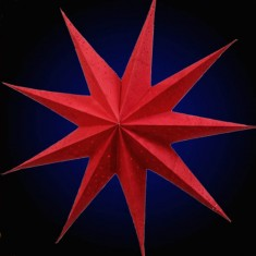 'Anemone' Batik Red - Small Paper Star Light
