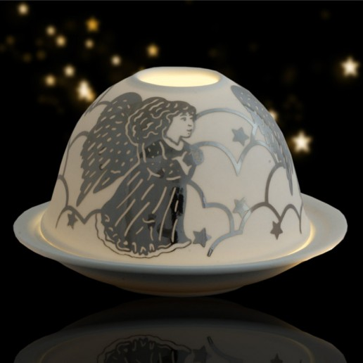 Angel - Glowing Dome Porcelain Tea Light Holder