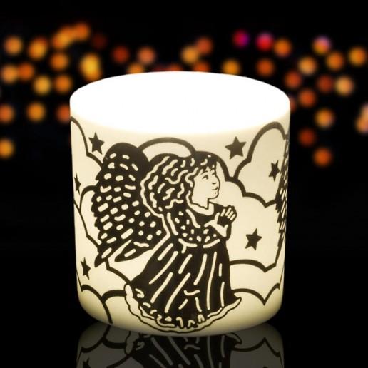 Angel - Porcelain Tea Light Candle Holder