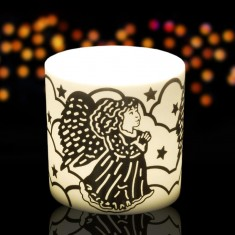 Angel - Porcelain Tea Light Candle Holder