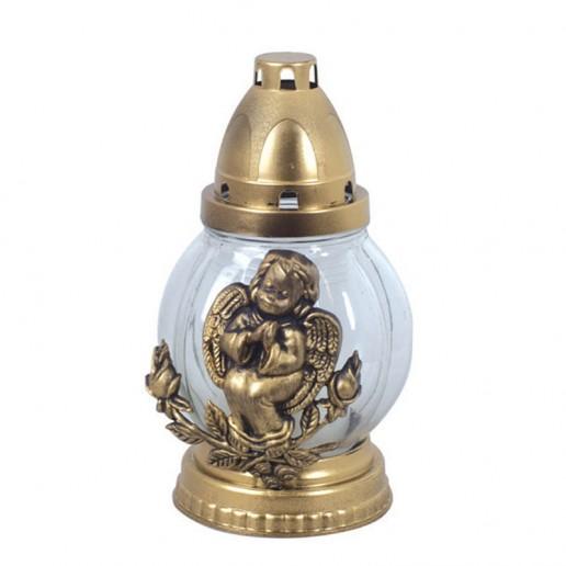 Angel Round Grave Lantern Clear