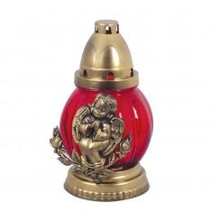 Angel Round Grave Lantern Red