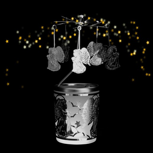 Angel - Spinning Tea Light Candle Holder