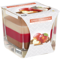 Apple - Cinnamon - Triple Layered Scented Candle