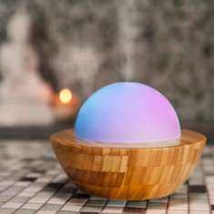 Essential Oil Diffuser Aroma Mist Diffuser - Made by Zen - Skye Bamboo and Glass