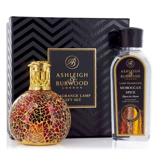 Ashleigh and Burwood Fragrance Lamp Gift Set - Tahitian Sunset & Moroccan Spice