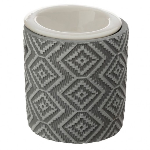 Aztec Wax Melt Burner Light Grey