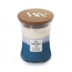 Beachfront Cottage - WoodWick Trilogy Medium Jar with lid