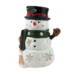 Big Snowman - Yankee Candle Tea Light Candle Holder