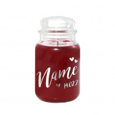 Black Cherry VD Personalised Yankee Candle Silver
