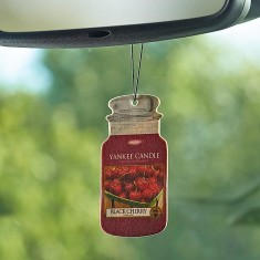 Black Cherry - Yankee Candle Car Jar Open