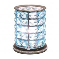 Blue Crystal - Electric Wax Melt Burner lit
