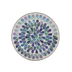 Blue Shimmer Yankee Candle Jar Plate