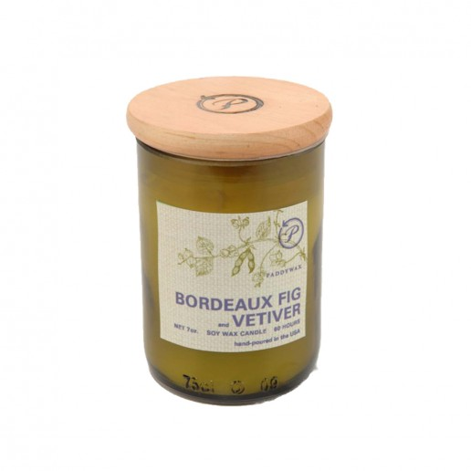 Bordeaux Fig & Vetiver - Eco Green Paddywax Cut Wine Bottle Soy Wax Candle