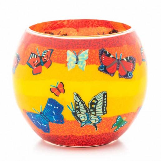 Butterflies - Glowing Globe Glass Tea Light Candle Holder small.jpg
