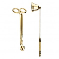 Candle Snuffer and  Wick Trimmer - Gold