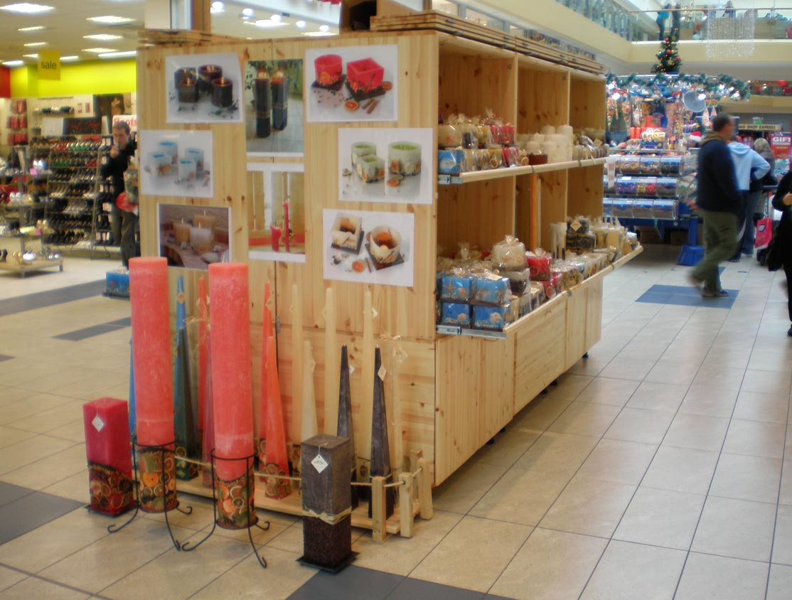 Candlemania stall in Mahon Point Shopping Centre Cork 2007 front view