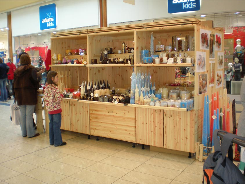 Candlemania stall in Mahon Point Shopping Centre Cork 2007 side view