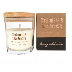 Cashmere & Sea Breeze - Scented Soy Candle with box