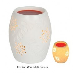 Ceramic Electric Wax Melt Burner - Flowers