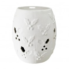 Ceramic Electric Wax Melt  Oil Burner - Holly white